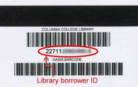 Library ID with barcode